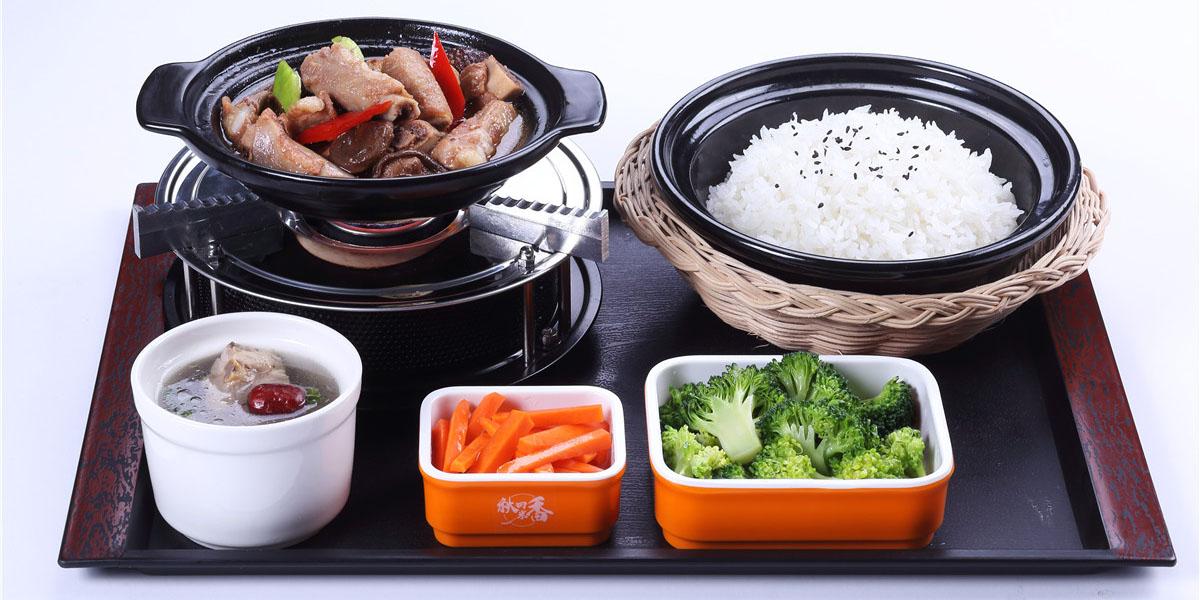 黄焖排骨瓦锅套餐饭